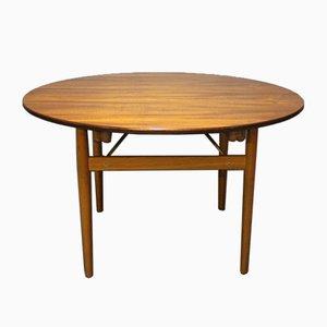 Table de Salle à Manger Ronde en Teck et Chêne avec Extensions par Hans J. Wegner, 1960s
