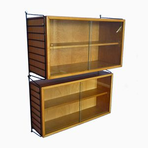Ash Veneer Shelving Unit by Kajsa & Nils Strinning for String, 1950s