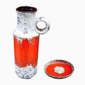 Vase ou Bol Fat Lava d'Allemagne de l'Ouest de Scheurich, 1950s