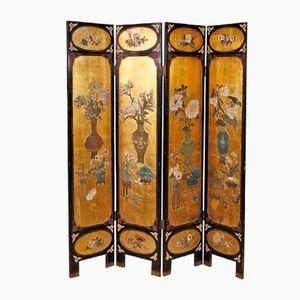Paravento in stile cinese dorato, Francia, anni '50
