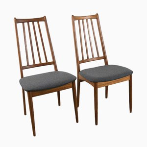 Vintage Danish High-Back Dining Chairs, Set of 8