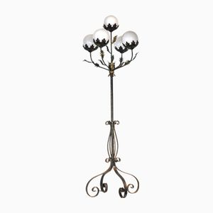 Antique Floral Floor Lamp