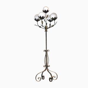 Antique Floral Floor Lamp