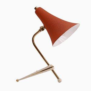 Lampe de Bureau Trépied avec Abat-Jour Orange Vintage