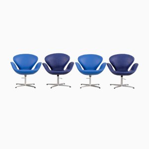 Mid-Century Swan Chairs by Arne Jacobsen for Fritz Hansen, Set of 4