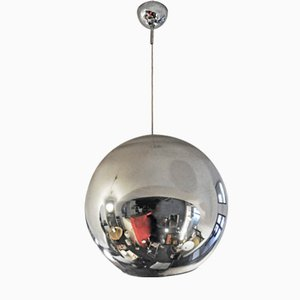Lampe à Suspension Globe en Métal par Roberto Menghi pour Fontana Arte, 1960s