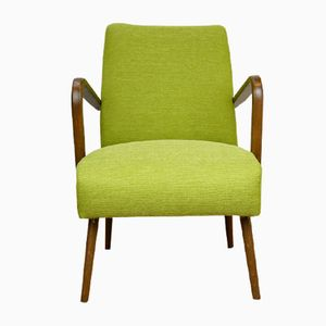 Green Armchairs, 1960s, Set of 2