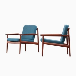 Vintage Danish Armchairs by Arne Vodder for Glostrup, Set of 2