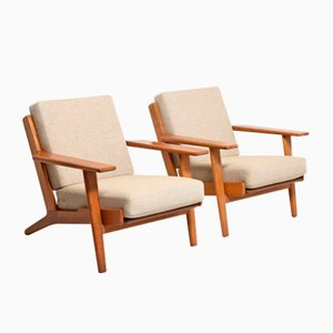 Mid-Century GE290 Easy Chairs by Hans J. Wegner for Getama, Set of 2