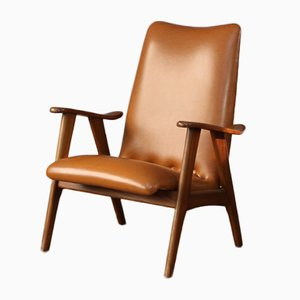 Mid-Century High Back Armchair by Louis van Teeffelen for Wébé