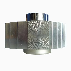 Brutalist Aluminum Table Light from Sarome, 1960s