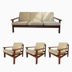 Modell 390 Sitzgruppe von Poul Volther für Frem Rolje, 1960er, 4er Set