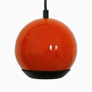 Kleine Orangenfarbene Vintage Kuggelleuchte ES Horn Belysning