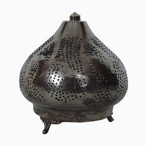 Lampada da tavolo in acciaio placcato in nichel, anni '60