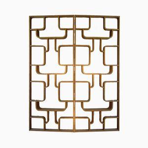 Tschechische Eschenholz Furnier Wandschirme von Ludvik Volak für Drevopodnik Holesov, 1950er, 2er Set