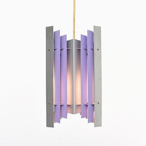 Mid-Century Lilac Pendant Light by Preben Dal for HF Belysning