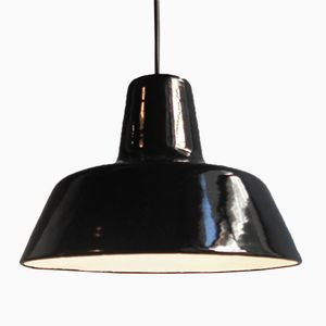 Vintage Industrial Enameled Pendant Lamp from Louis Poulsen