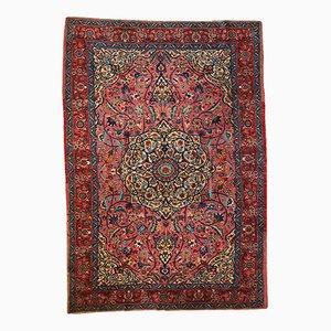 Handmade Persian Lilihan Rug, 1920s
