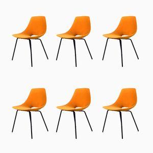 Vintage Tonneau Stühle von Pierre Guariche für Steiner, 6er Set