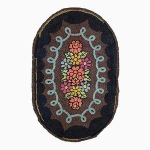 Handgeknüpfter Amerikanischer Ovaler Teppich, 1920er