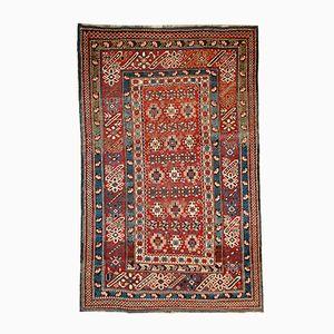 Antiker Handgeknüpfter Kaukasischer Chichi Teppich, 1880er