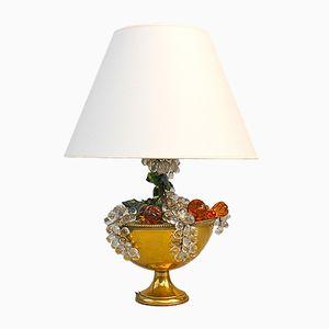 Mid-Century Messing & Glas Tischlampe