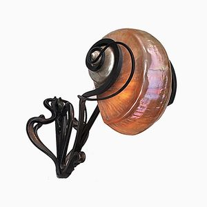 Vintage Art Nouveau Nautilus Shell Wall Light