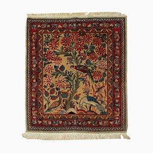 Antiker Handgeknüpfter Persischer Dabir Kashan Teppich, 1890er