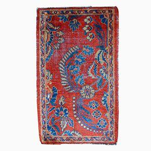 Antiker Handgeknüpfter Persischer Persischer Mahal Vagireh Teppich, 1900er