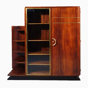 Vintage French Art Deco Bookcase from Luttun