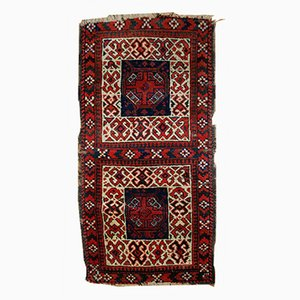 Antique Handmade Afghan Baluch Double Nomadic Bag Rug, 1880s