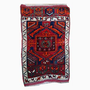 Antique Handmade Turkish Yastik Rug, 1890s