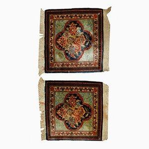 Antike Handgeknüpfte Dabir Kashan Teppiche, 1890er, 2er Set