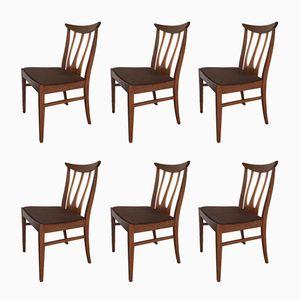 Brasilia Range Teak Esszimmerstühle von G-Plan, 1960er, 6er Set