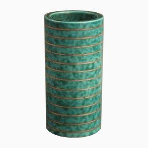 Vase Argenta Vintage Turquoise par Wilhelm Kåge pour Gustavsberg