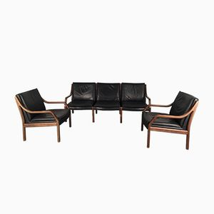 Vintage Art Collection 3-Seater Sofa & 2 Chairs by Jørgen Kastholm & Preben Fabricius for Walter Knoll/ Wilhelm Knoll