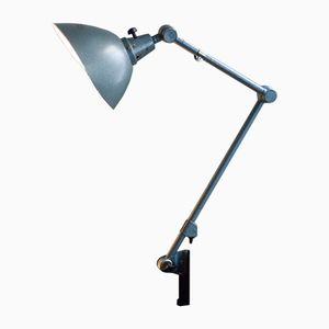 Vintage Blue Articulated Lamp by Curt Fischer for Midgard/ Industriewerke Auma