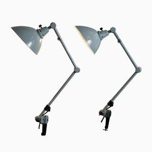 Verstellbare Vintage Lampen von Curt Fischer für Midgard / Industriewerke Auma, 2er Set