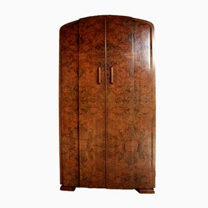 Vintage Art Deco Wardrobe in Walnut