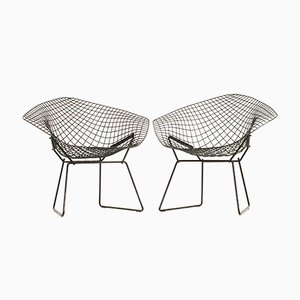 Black Diamond Chairs by Harry Bertoia for Knoll, 1950s, Set of 2