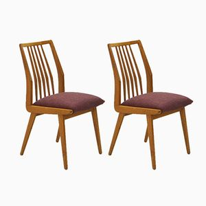 Vintage Ash Dining Chairs, 1950s, Set of 2