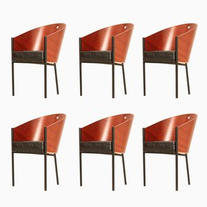 Costes Chairs by Philippe Starck for Driade, 1980s, Set of 6