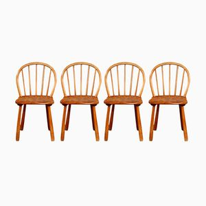 Model 1557 Dining Chairs by Adolf Gustav Schneck for Fritz Hansen, 1940, Set of 4