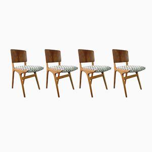 Esszimmerstühle von Alfred Cox für Heals, 1950er, 4er Set