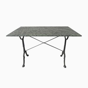 Garden Table with Cast Iron Base and Marble Top from Godin