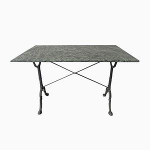Gartentisch mit Gusseisenfuß & Marmorplatte von Godin