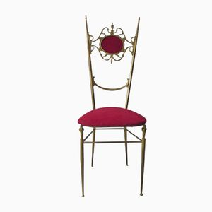 Vintage Brass Chiavari Chair, 1960s