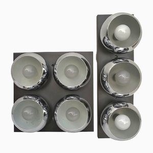 Wandlampen von Angelo Lelii für Arredoluce, 1960er, 2er Set