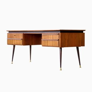 Vintage Walnut Desk by Erwin Behr for Behr, 1950s