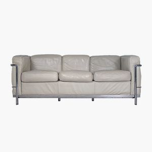 Vintage LC2 2-Seater Sofa by Le Corbusier for Cassina